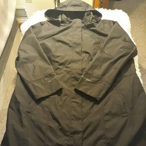 Eddie bauer rain jacket men 2xl black trench